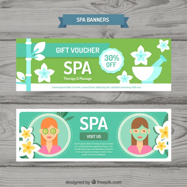 Gift voucher for the spa Premium Vector (1)