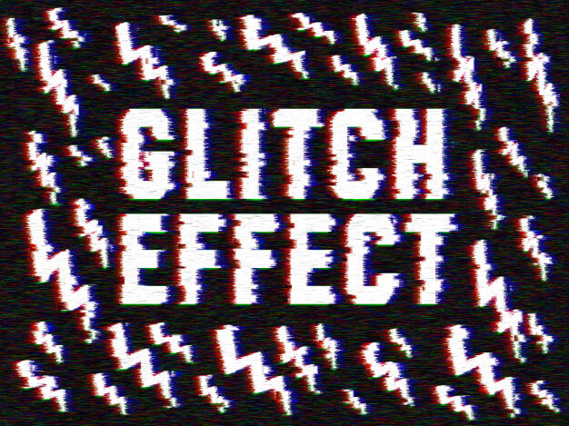 Glitch effect to your images Free Psd