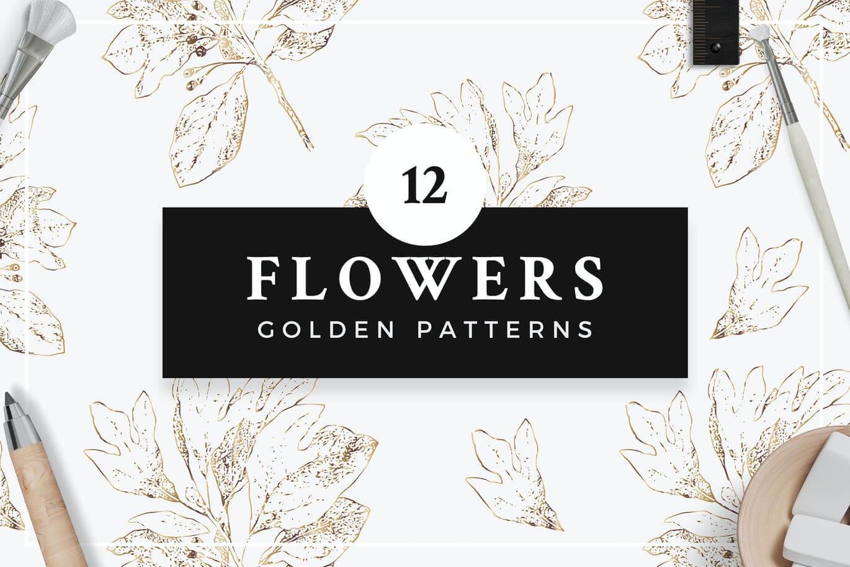 Golden Flower Patterns Collection