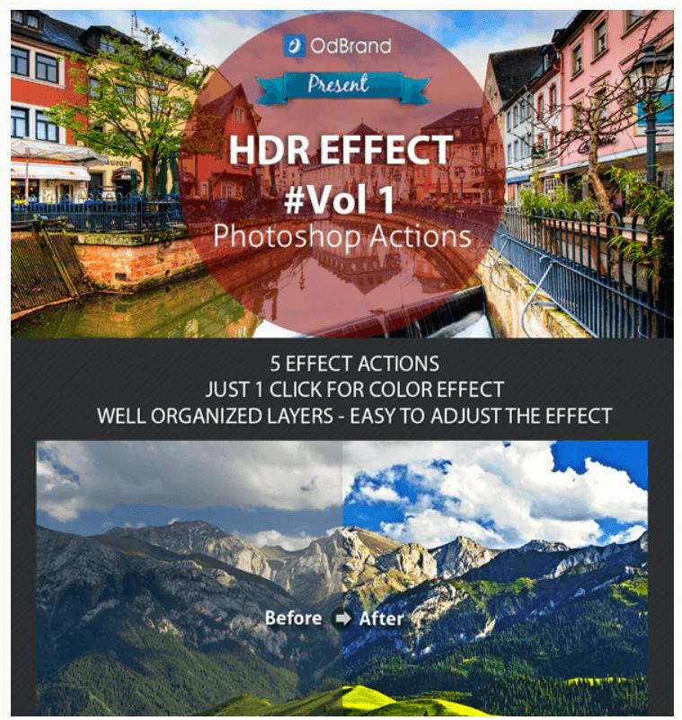 HDR Effect Photoshop Action V01
