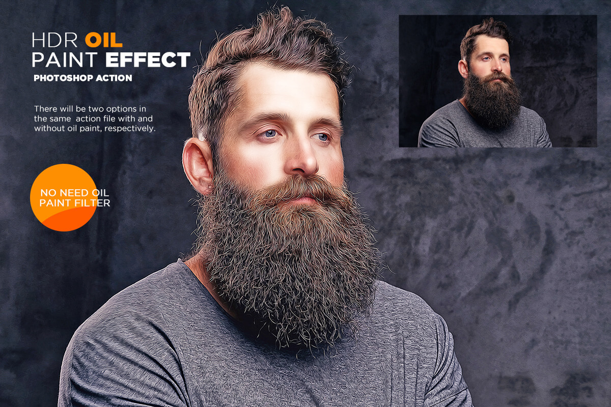 HDR Oil Paint Effect Photoshop Action