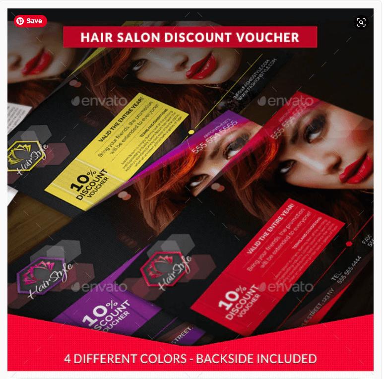 Hair Salon Fashion Style Discount Voucher (1)