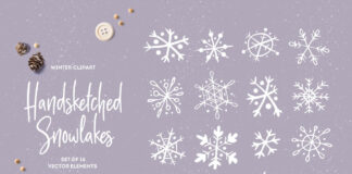 Handsketched Snowflakes