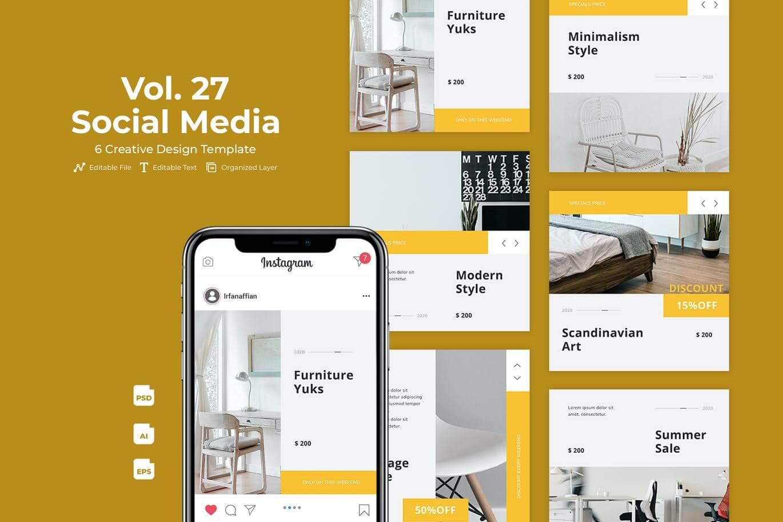 Home Decoration Social Media Kit Vol. 27