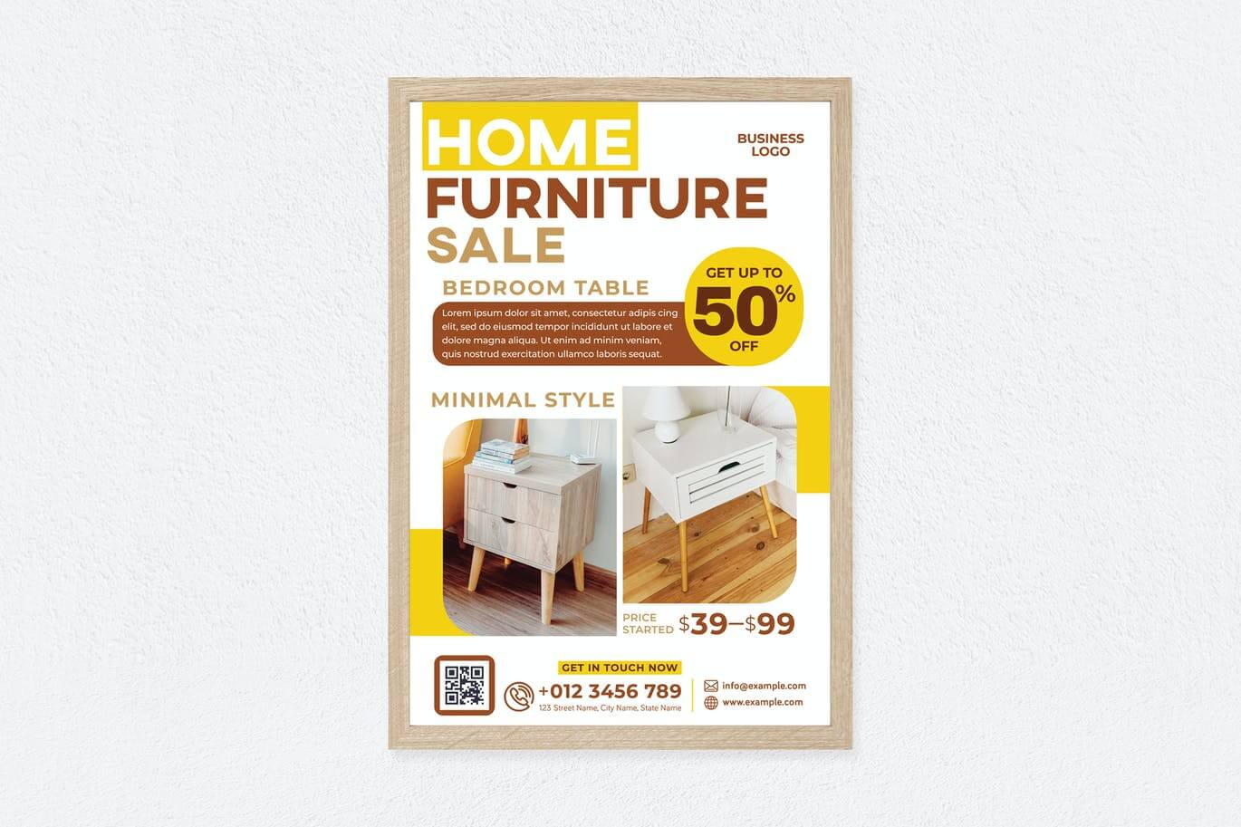 Home Furniture Sale Poster