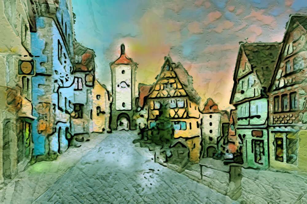Impressionist Acrylic Painting Photoshop Action