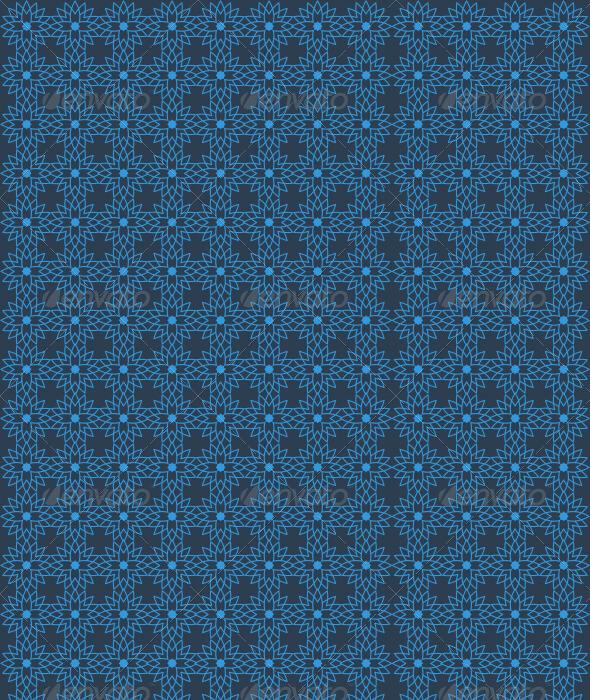 Islamic Star Pattern - Blue