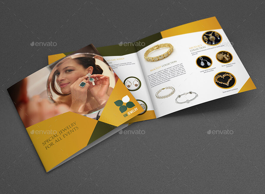 Jewelry and Accessories Bi-Fold Catalog Brochure