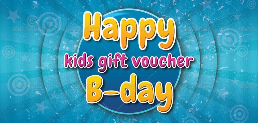 Kids Birthday Gift Voucher V05