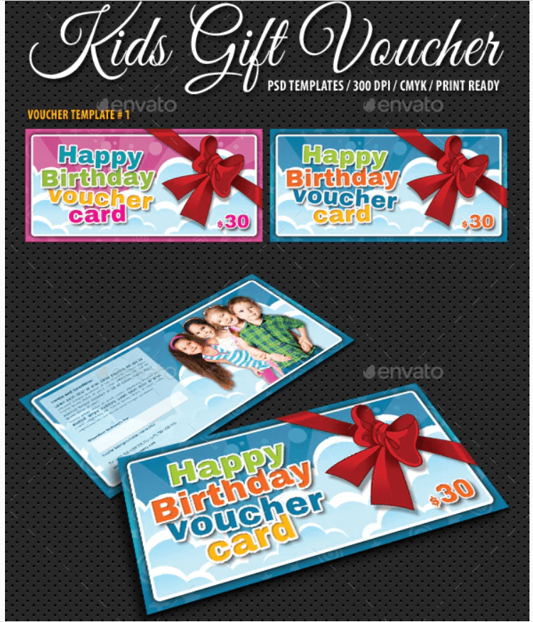 Kids Birthday Voucher Bundle