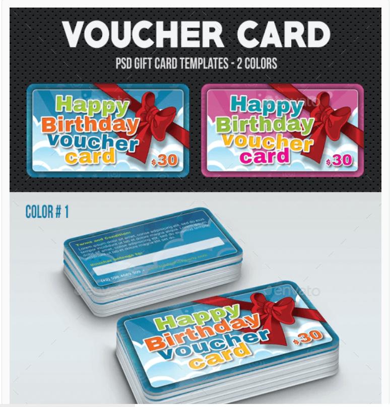 Kids Birthday Voucher Card 2