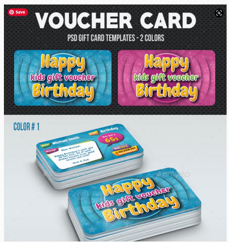 Kids Birthday Voucher Card