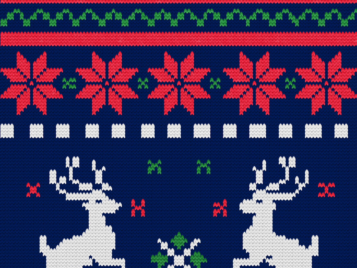 Knitted Christmas Sweater - Photoshop Actions