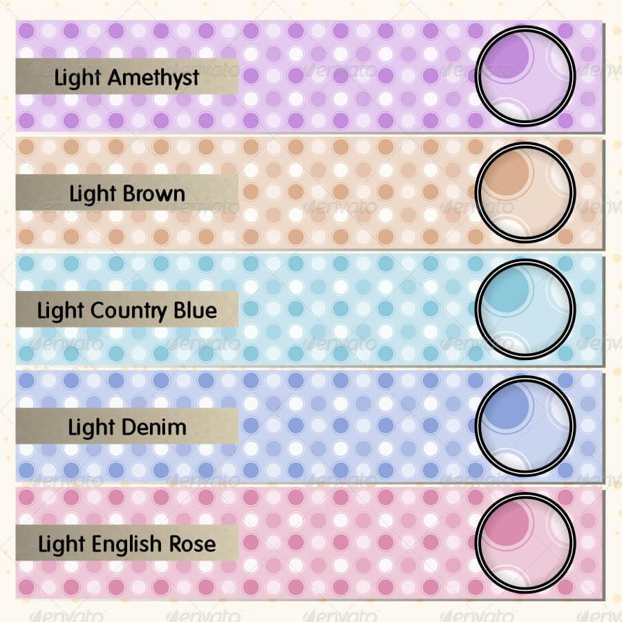 Light Retro Dots Pattern Set