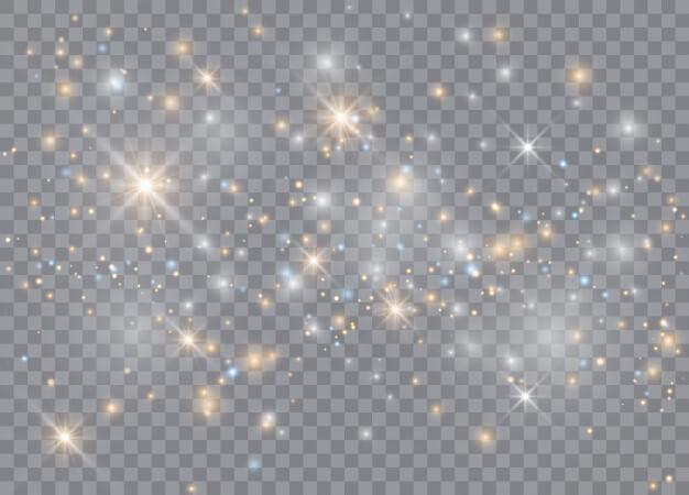 Light glow effect stars