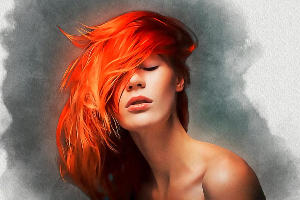MIXI Acrylic + Watercolor + Pencil Sketch Photoshop Action