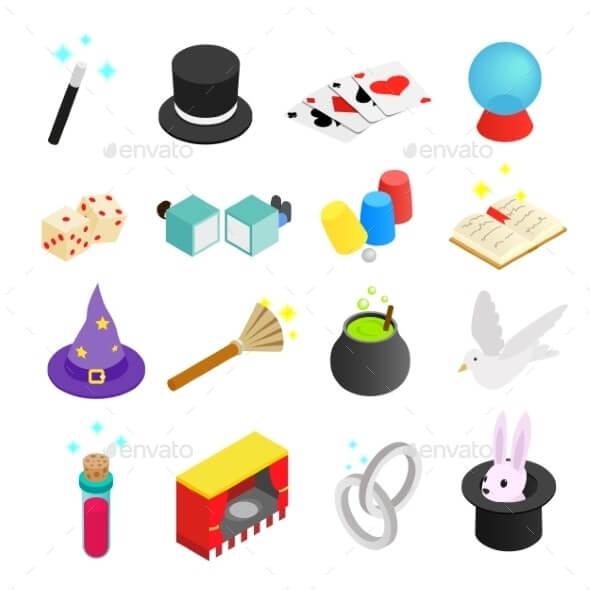 Magic Isometric 3d Icon