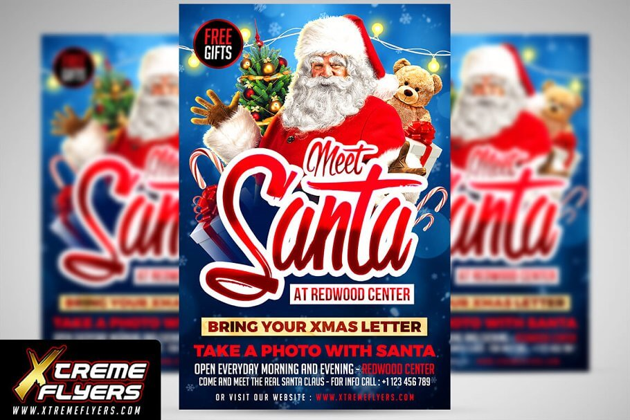 Meet Santa Christmas Flyer