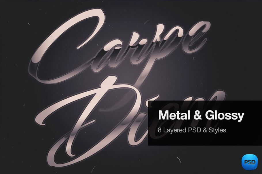 Metal & Glossy Text Effects