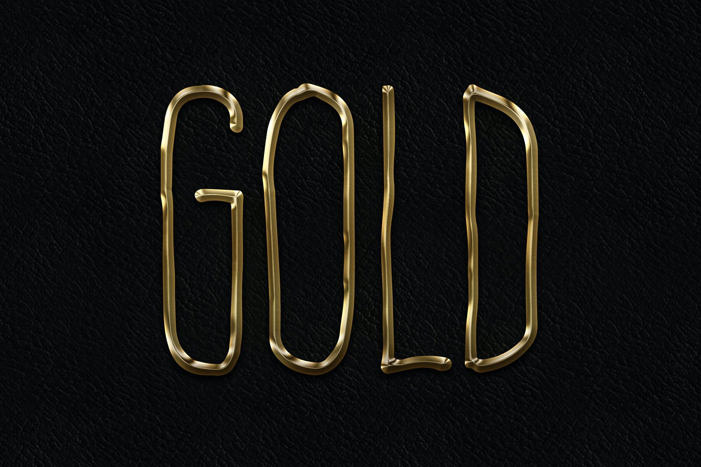 Metal Layer Styles - Photoshop Gold Text Effect (1)