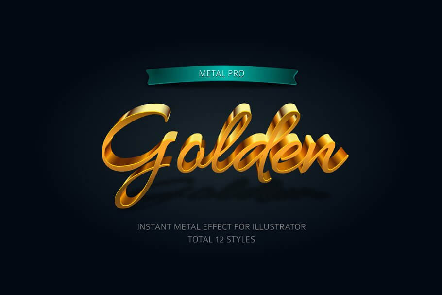 Metal Pro-Instant Illustrator Effect