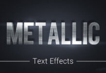 Metallic Text Effects Mockup