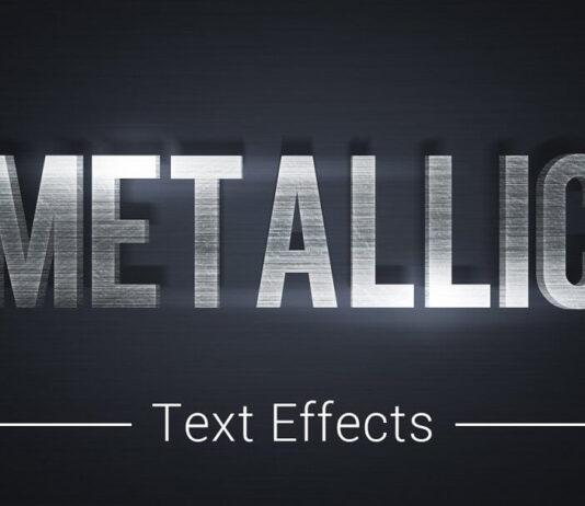 Metallic Text Effects Mockup