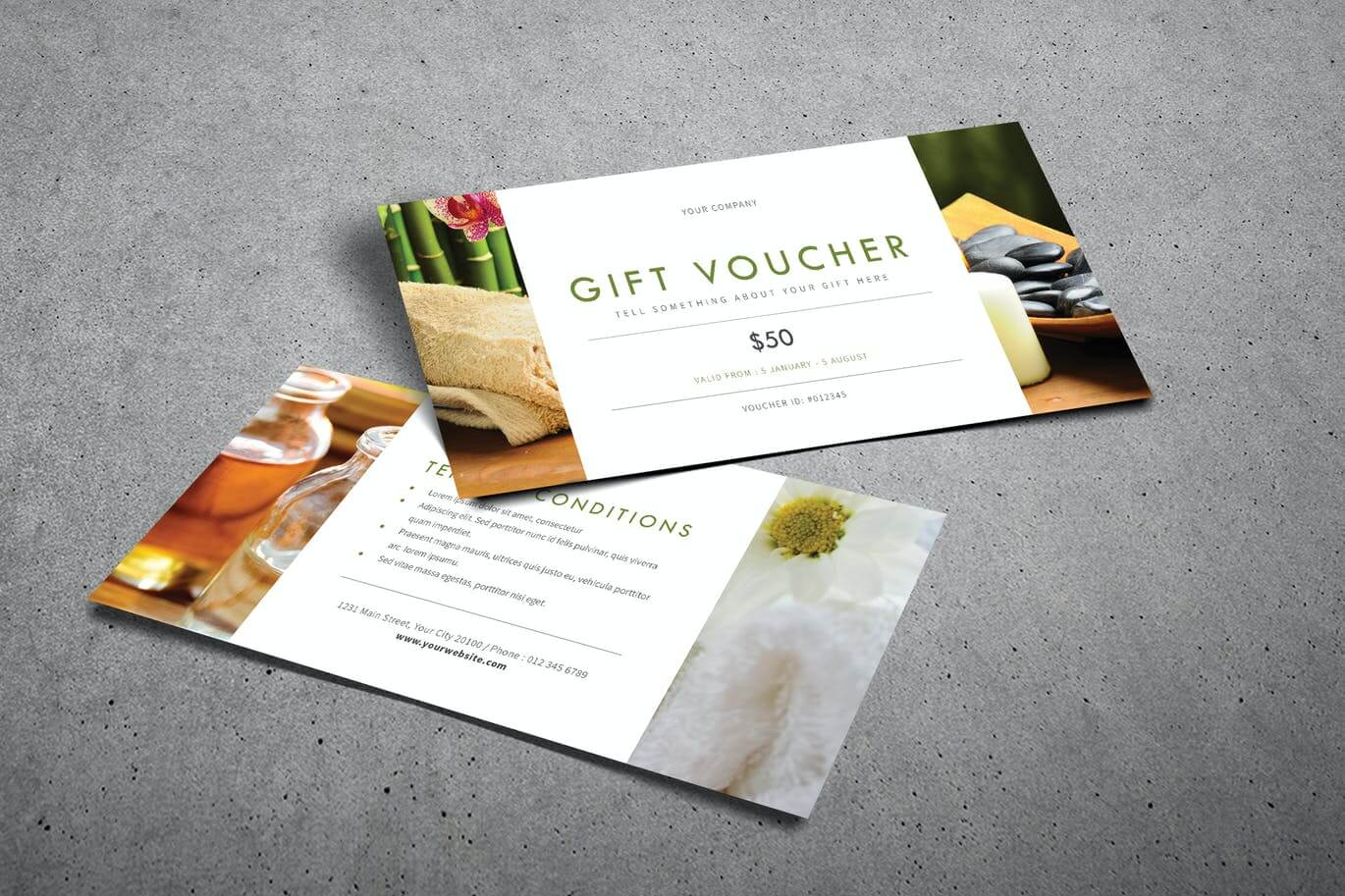 12 beautiful spa gift voucher template in psd