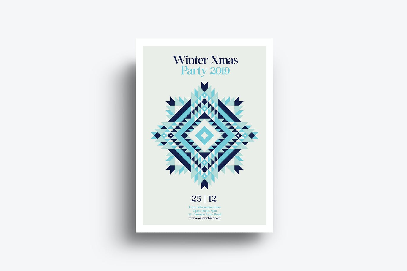Minimal Winter Xmas Party Flyer