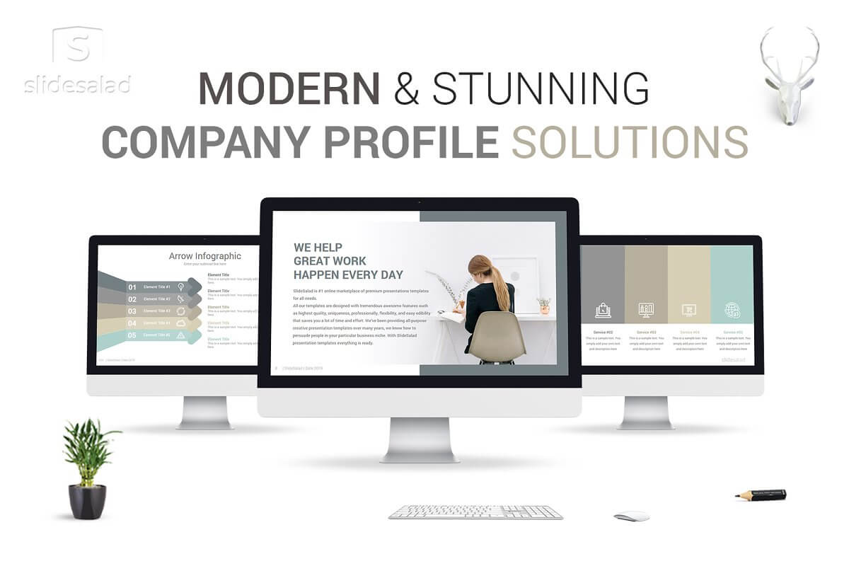 Modern Company Profile PowerPoint