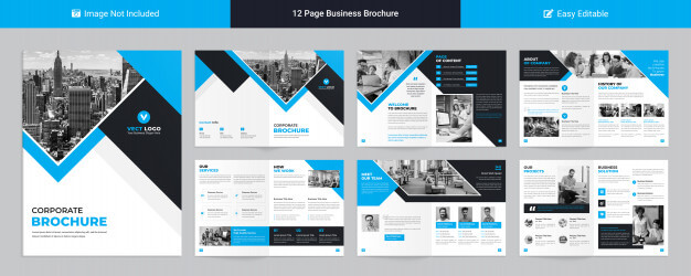 Modern corporate profile template for business presentation Premium Psd