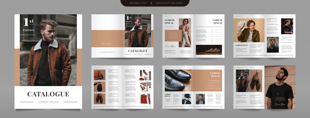 Modern fashion catalog template Premium Vector
