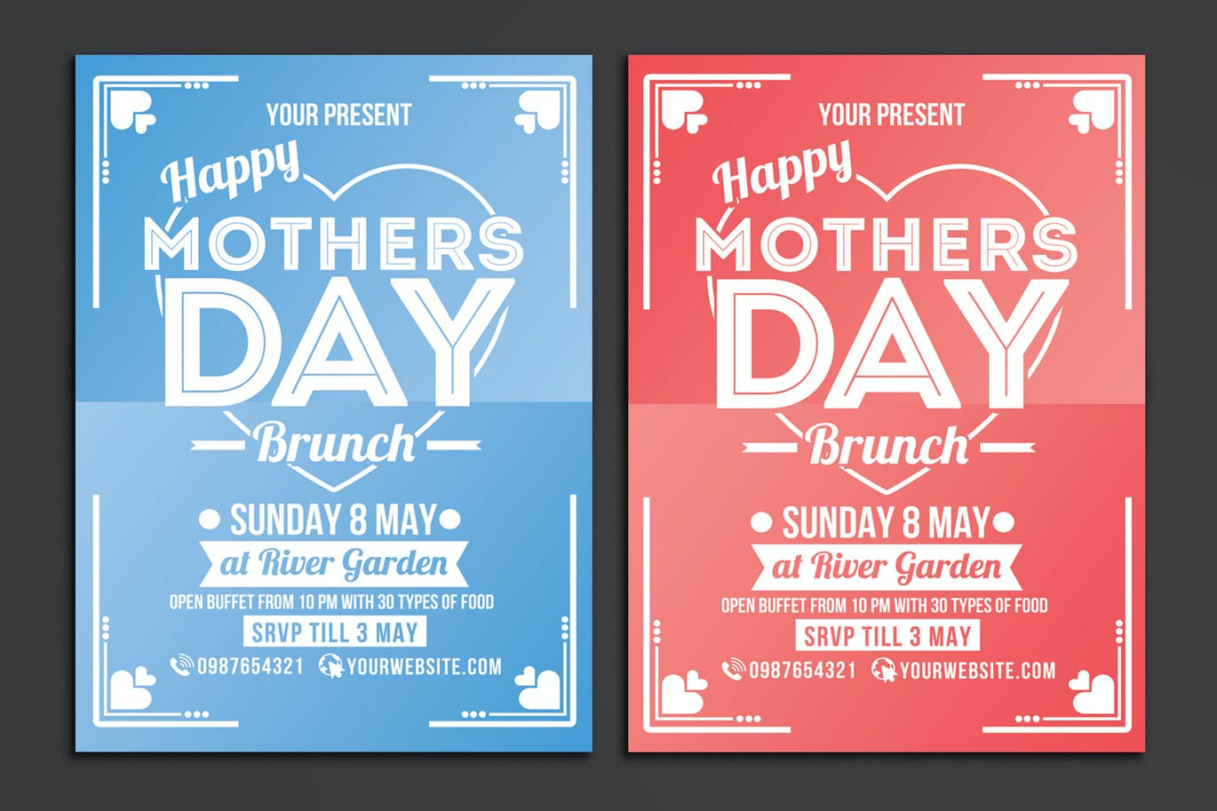 Mothers Day Brunch Flyer Poster