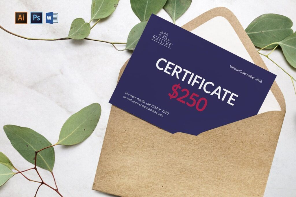 Nail Studio Shop Gift Certificate