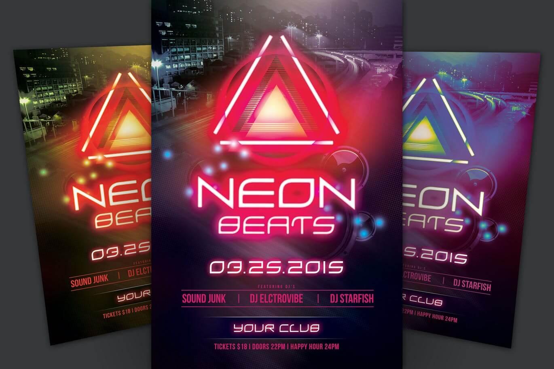 Neon Beats Flyer