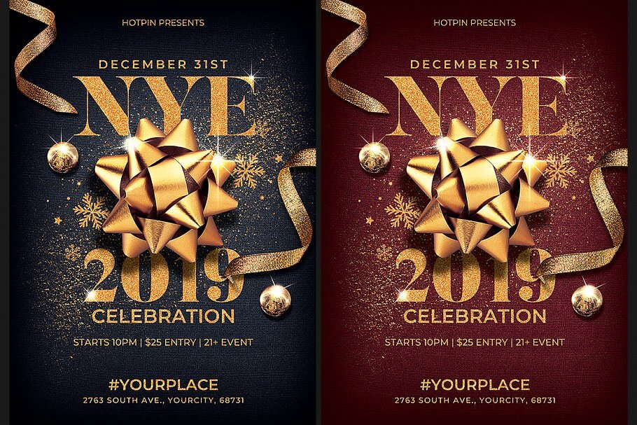 New Year Eve Flyer Invitation
