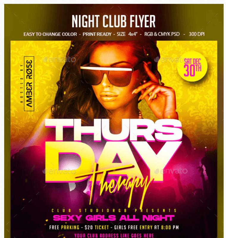 Night Club Flyer3