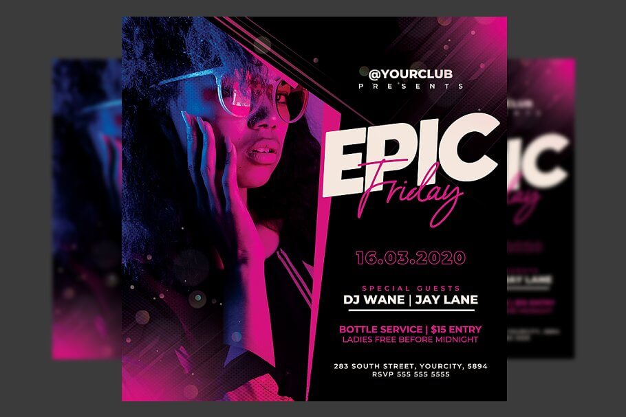 Night Club Party Flyer Template1