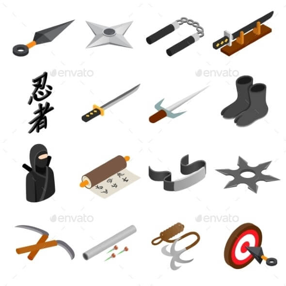Ninja Isometric 3d Icon