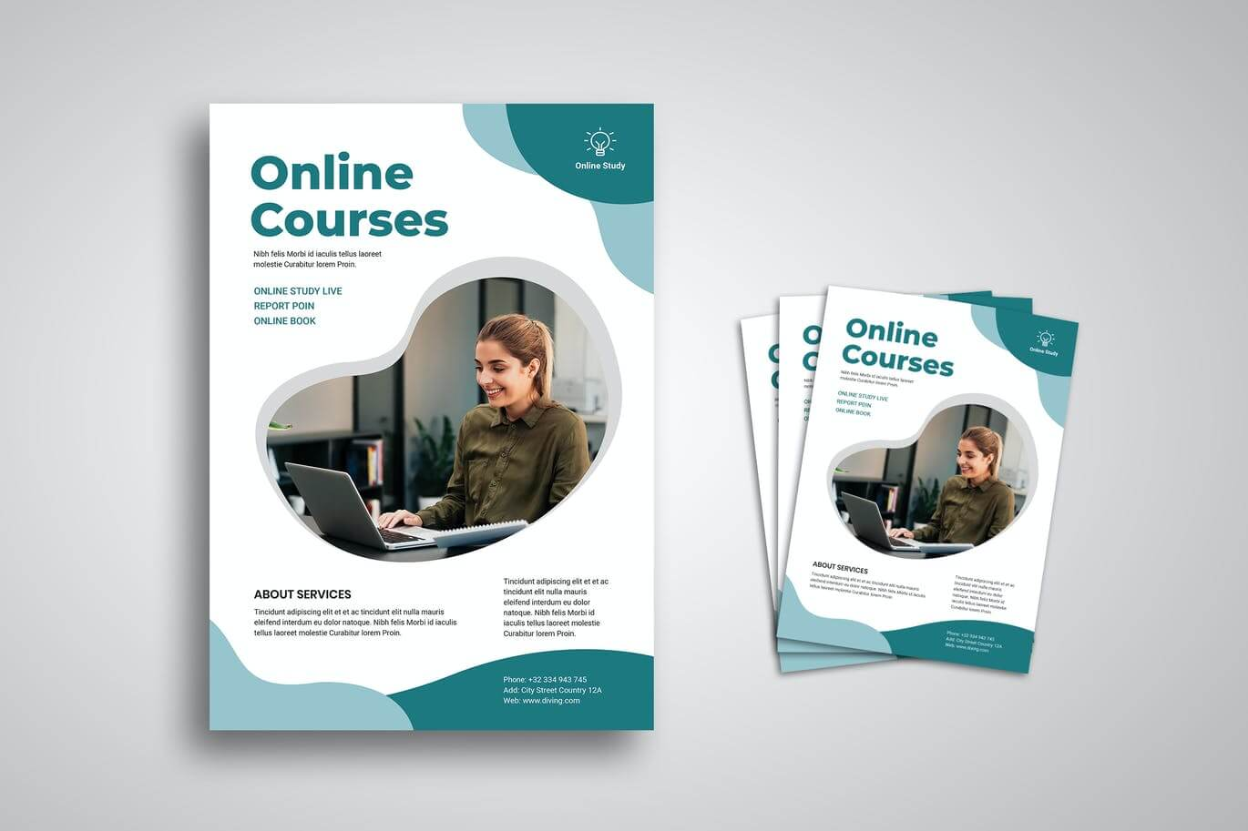 Online Courses Flyer Promo Template (1)