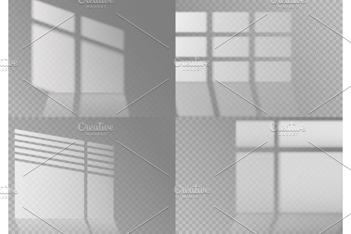 Overlay window shadows. White