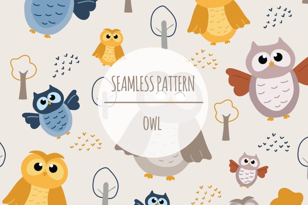 Owl – Seamless Pattern