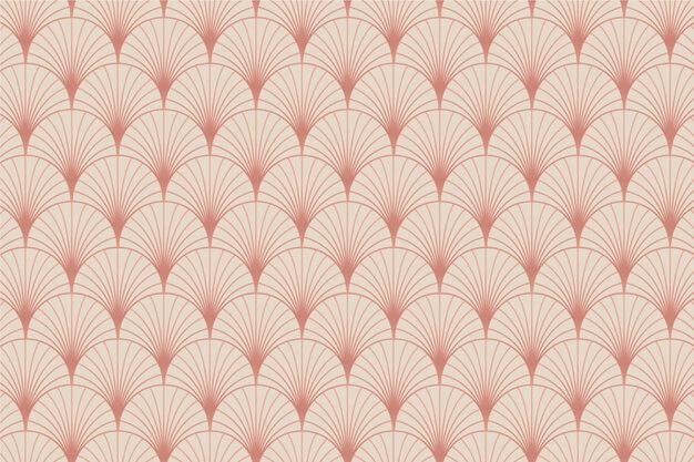 Pastel rose gold art deco palm pattern Premium Vector