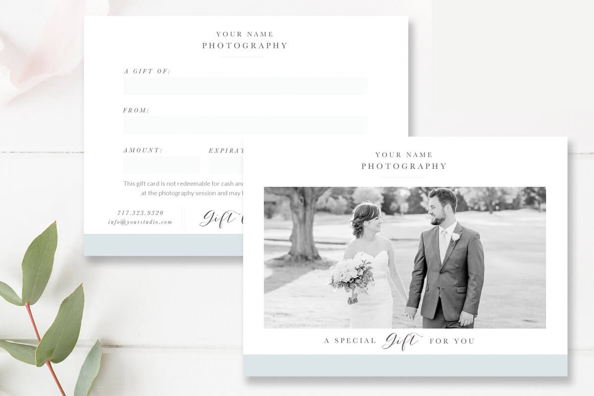 Photographer Gift Card Template (1)