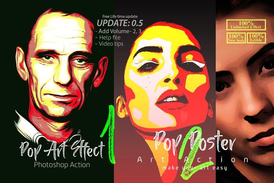 Pop Art Effect Photoshop Action