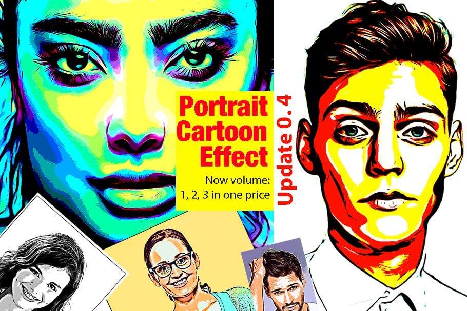 Portrait Cartoon Effect Action