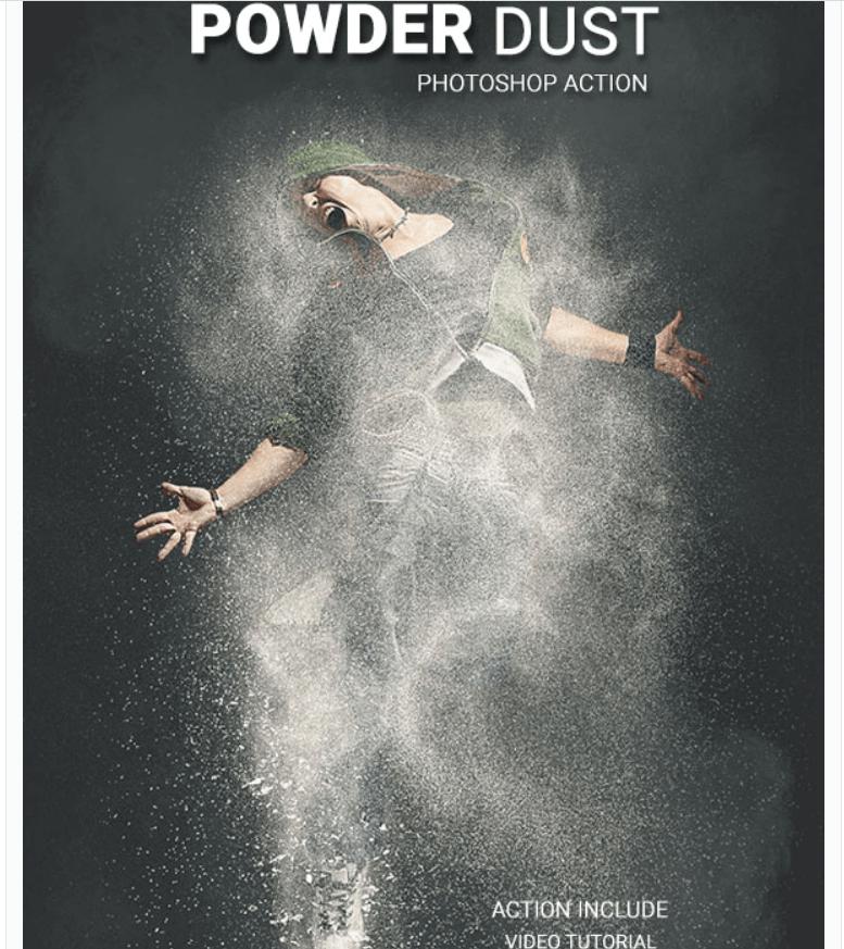 Powder dust Photoshop Action