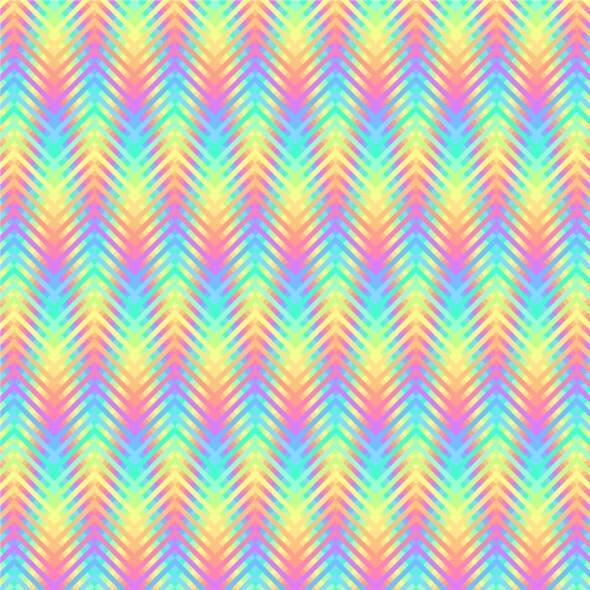 Psychedelic Wavy Stripes Pixel Art Pattern