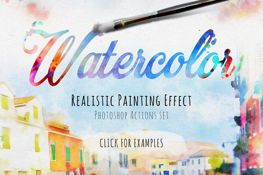 Realistic Watercolor Painting Effect