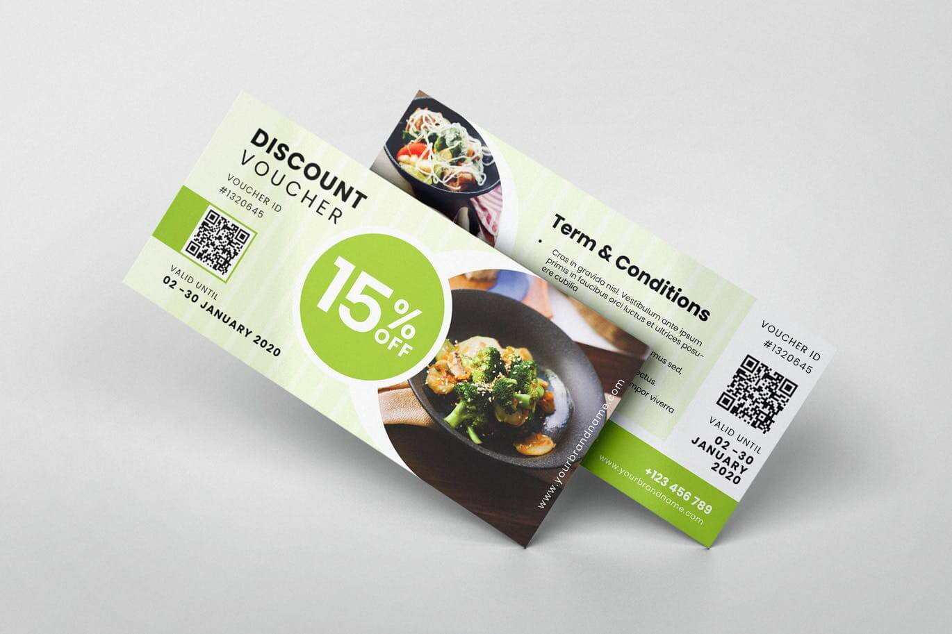 Restaurant AI and PSD Gift Voucher